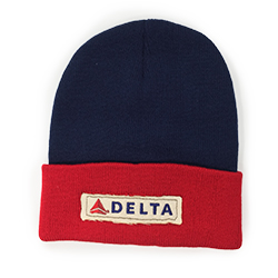 Navy/Red Knit Beanie Thumbnail