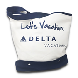 Vacations Beach Bag Natural Thumbnail