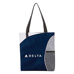 Mesh Pocket Non-Woven Convention Tote Thumbnail