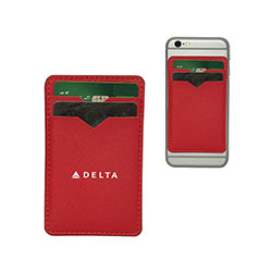 Dual Barricade RFID Phone Wallet - RED Thumbnail