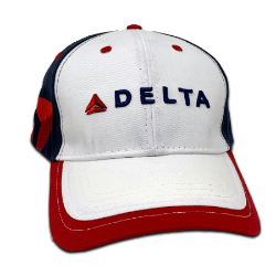 White/Red/Blue Full Color Logo Cap Thumbnail
