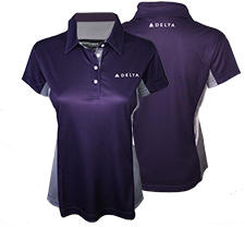 Passport Plum Color Block Polo - Ladies Thumbnail