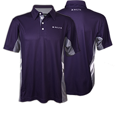 Passport Plum Color Block Polo - Men Thumbnail