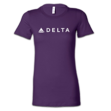 Passport Plum Tee - Ladies Thumbnail