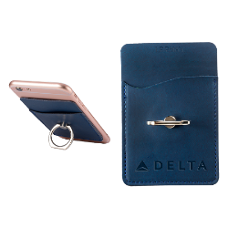 TUSCANY CARD HOLDER WITH METAL RING PHONE STAND Thumbnail