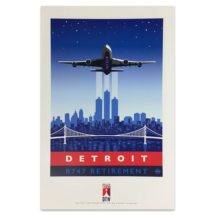 747 Tour Commemorative Poster - Detroit-25% off