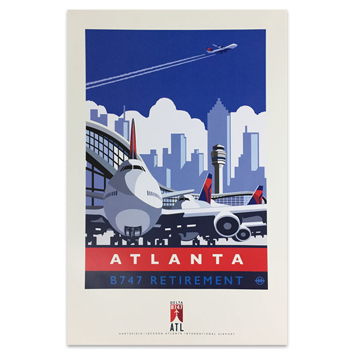 747 Tour Commemorative Poster - Atlanta- 50% off
