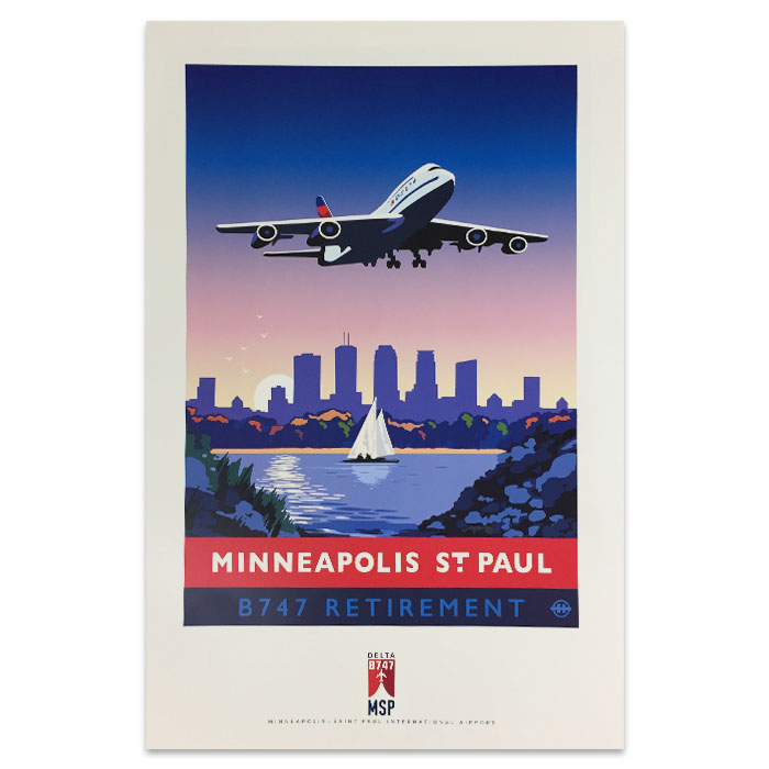 747 Tour Commemorative Poster - Minneapolis-50% off
