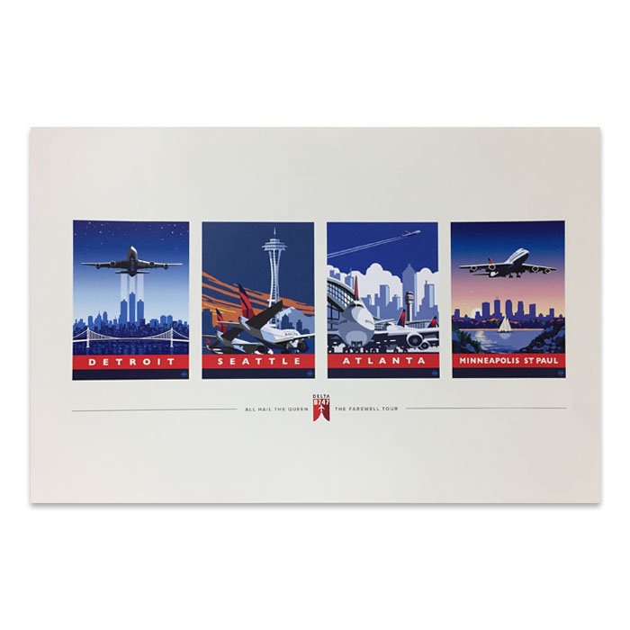 747 Tour Commemorative Poster - Combo-50% off