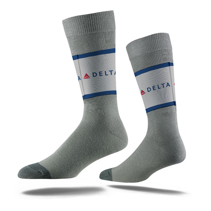 Grey Business Crew Sock