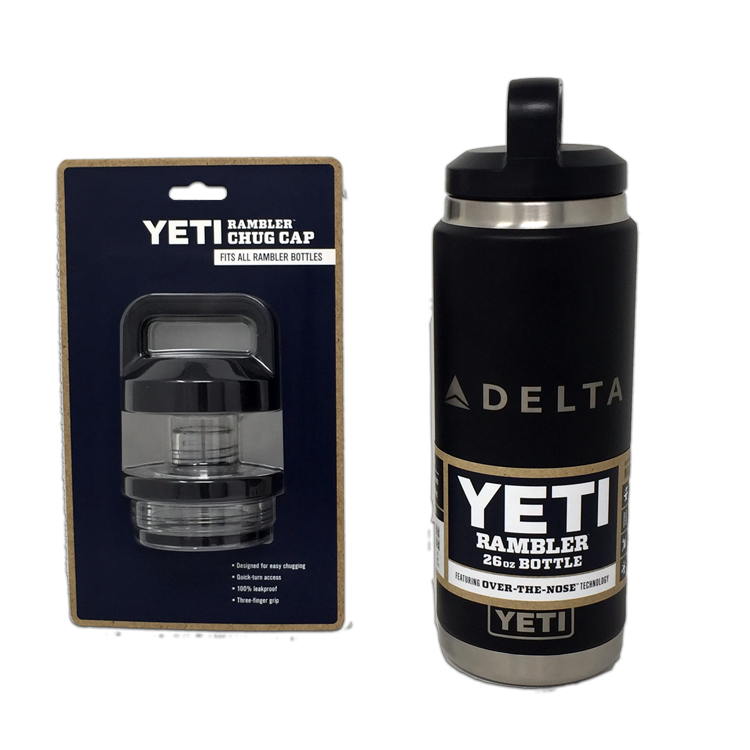 26 oz Black Yeti Bottle with Chug Cap