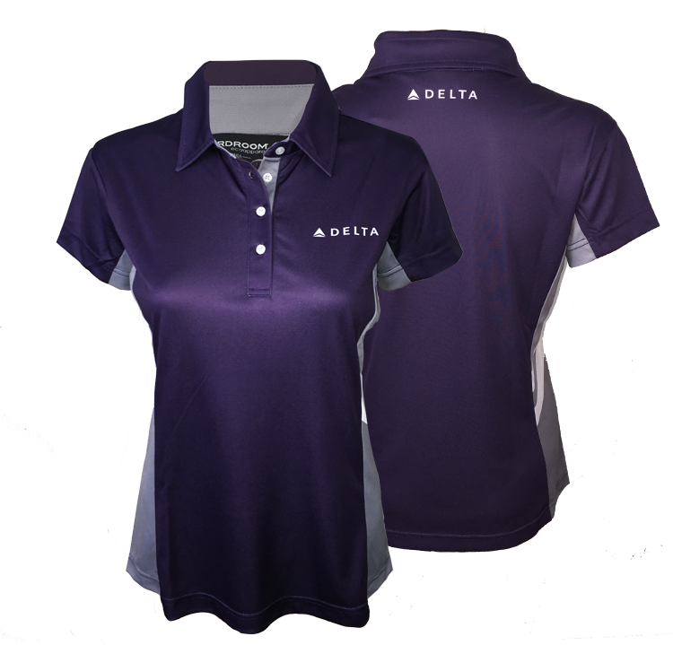 Ladies Passport Plum Color Block Polo